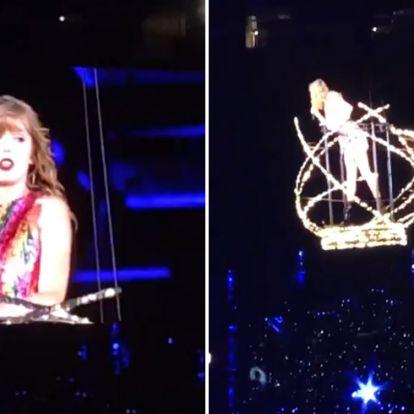 Kínos dolog történt Taylor Swifttel a koncertjén