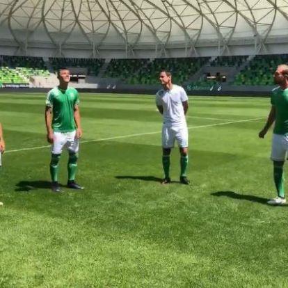A Haladás játékosai is bemutatják az új, Mészáros Lőrinc-féle mezeket