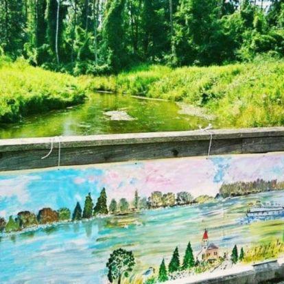 Egy kilométeres festményt állítanak ki Budapesten