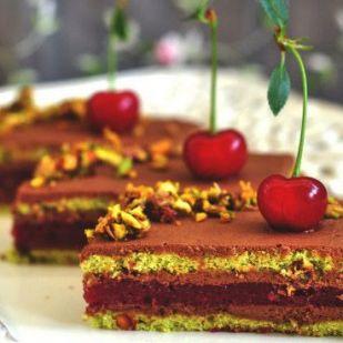 Pisztáciás-meggyes sütemény - Mindmegette.hu