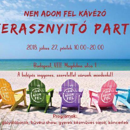 Terasznyitó party lesz Budapest legmenőbb helyén