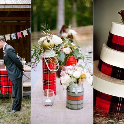 Kockás dekoráció az esküvőn: így használd az ősz egyik kedvenc mintáját