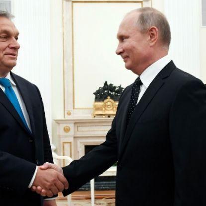 Putyin elégedett a magyar csicskájával, megdicsérte Orbánt