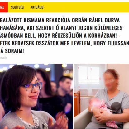 Így hazudnak Orbán Ráhel szülésével kapcsolatban