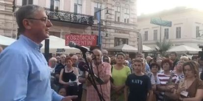 Gyurcsány Szegeden: Ha a magyar nép nem mozdul, Orbánék a nyakunkon maradnak, a Jóisten tudja meddig (+videó)