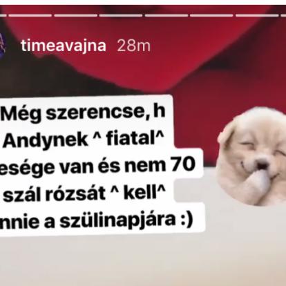 Vajna Tímea utálja a rózsát, de Andy Vajna azzal köszöntötte fel a születésnapján