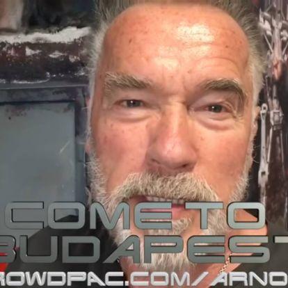 Budapesti utat sorsol ki rajongói között Arnold Schwarzenegger