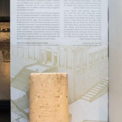 """Heródes-korabeli """"városnévtáblát"""" találtak Jeruzsálemben"""
