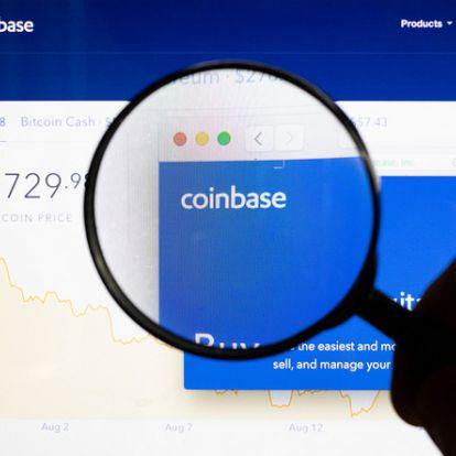 A Coinbase értéke megelőzte a legtöbb kriptopénzét