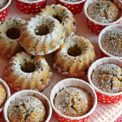 Bögrés banános muffin