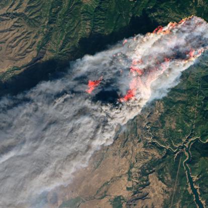 Az űrből is látni a kaliforniai tűzvészt - National Geographic