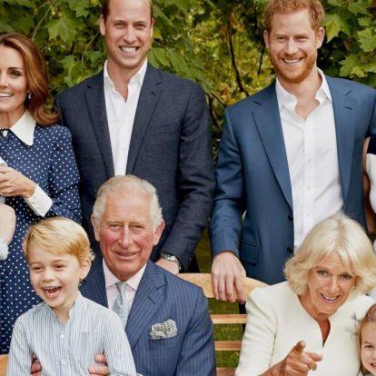 Károly születésnapjára összeállt két fotóra a királyi család