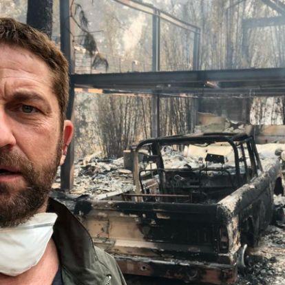 Nemcsak Gerard Butler, Miley Cyrus háza is porig égett