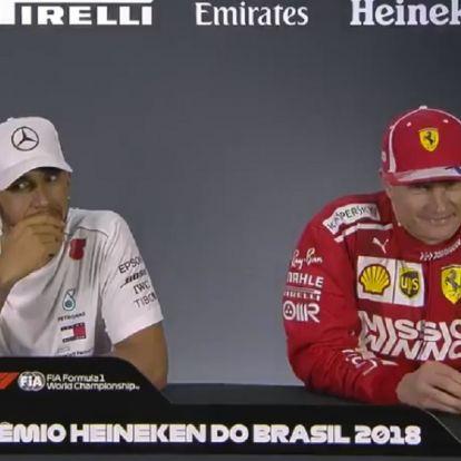 Ha Räikkönen reakcióján fele annyira szórakozol jól, mint ő Verstappen nyilatkozatán, már jó napod lesz