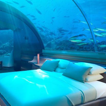 Öt méterrel az óceán felszíne alatt nyitottak luxuslakosztályokat