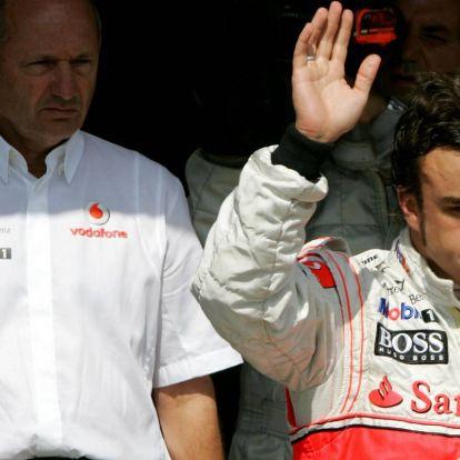 Kemény sztori Alonsóról: megzsarolta a McLarent, hogy Hamilton ne érhessen célba