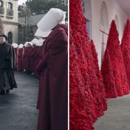 Elég para: A szolgálólány meséjére hajaz Melania Trump karácsonyi dekorációja