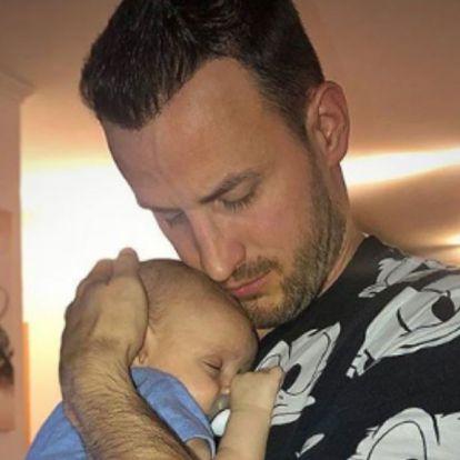 Csuti elbűvölő fotón szerepel a kisfiával