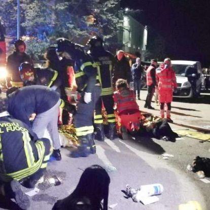 Hat ember meghalt, miután pánik tört ki egy olasz klubban