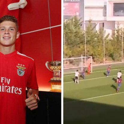 Két és fél hónapig nem játszhatott, most gyönyörű góllal tért vissza a Benficába Csoboth! – VIDEÓ