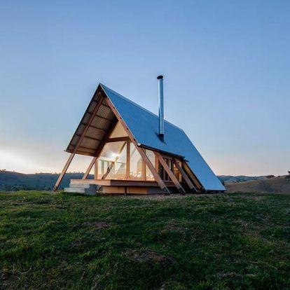 Mindössze két ember keze munkája ez a meghitt ausztrál ház a prérin