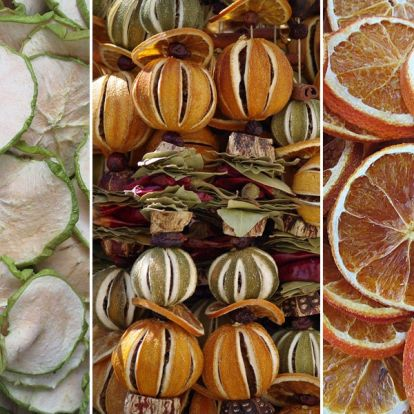 Csináld magad: szárított gyümölcsös girland az ünnepekre