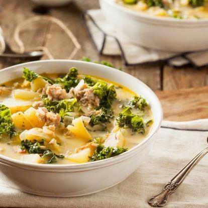 Toszkán téli leves - kellel és krumplival
