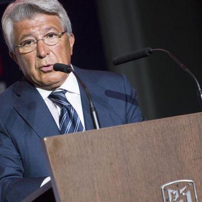 Feltett egy kérdést az Atlético Madrid elnökének a riporterhölgy, a válasz mindenkinél kiverte a biztosítékot!