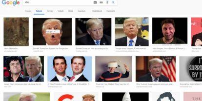 A Google elárulta, hogy miért Trump jelenik meg, ha valaki az idióta szóra keres