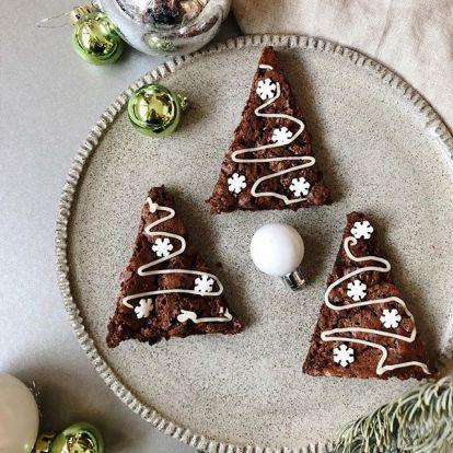 Brownie karácsonyfák