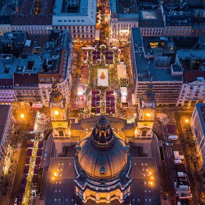 Ilyen madártávlatból a karácsonyi Budapest Bódis Krisztián fotóin