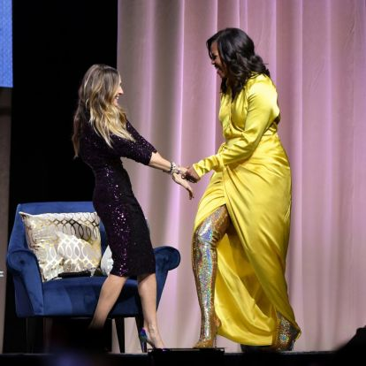 Michelle Obama egymillió forintos csizmában jelent meg