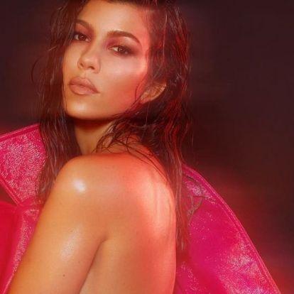Kourtney Kardashian a bátorságról papolt, ezért nem vett melltartót a pufi kabátja alá
