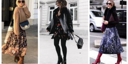 Stílusiskola: így viselj télen virágos ruhákat