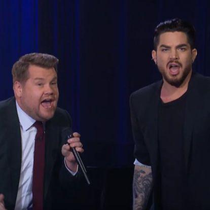 James Corden és Adam Lambert előadták a Don't Stop Me Now NFL-verzióját