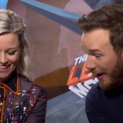 Chris Prattnek megmutatták a videót, amiben menyasszonya Chris Evanst nevezte jobb pasinak