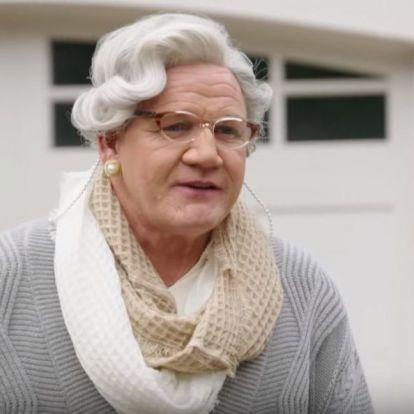 Kiköpött Mrs. Doubtfire-nek öltözött Gordon Ramsay, hogy megint éttermet fikázzon