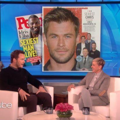 Chris Pratt szerint is Chris Hemsworth a legszexibb Chris