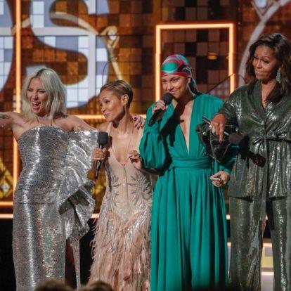 Kiosztották a Grammy-díjakat: Michelle Obama is színpadra lépett | Marie Claire