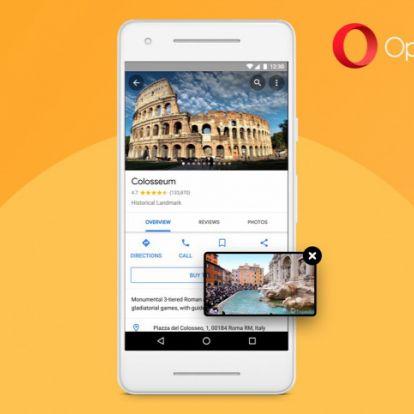 Kép a képben funkciót kapott az androidos Opera