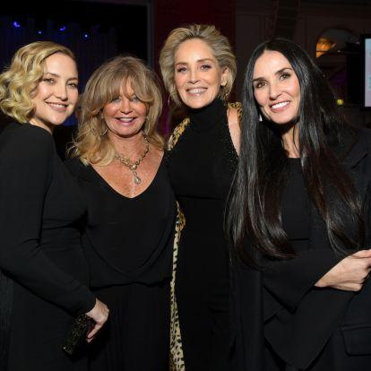 228 év egy képen: Goldie Hawn, Demi Moore, Sharon Stone és Kate Hudson fotózkodott