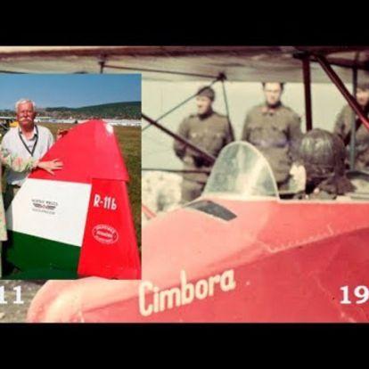 Ilona grófnő repült a Cimbora vitorlázó repülőgéppel