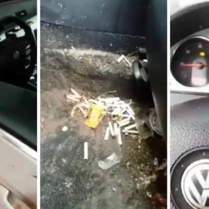 A mosós srác picit megrémült, amikor meglátta mi van a nő autójában