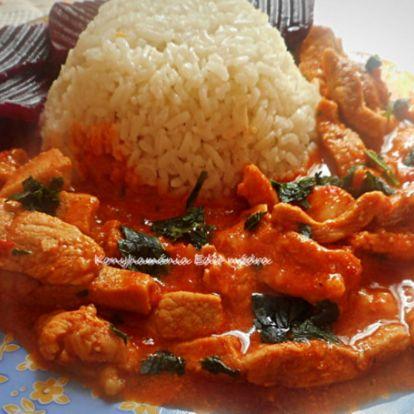 Erdélyi sertéstokány rizzsel