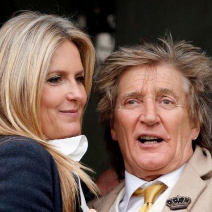 Ma már nem lesz cukibb dolog a feleségével összeöltöző Rod Stewartnál