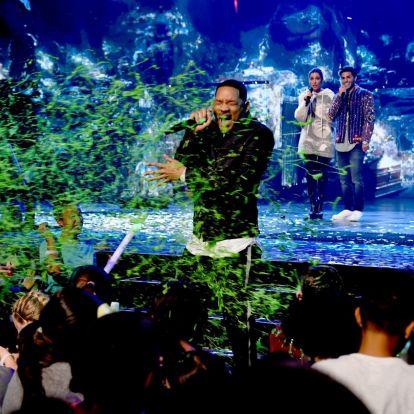 Will Smith és Chris Pratt is kapott a zöld slime-ból