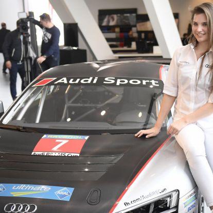 Újabb nagy feladatot kap a csinos magyar autóversenyző