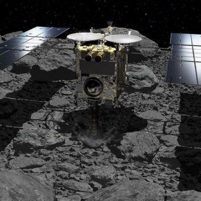 Krátert robbantott a japán űrszonda a Ryugu aszteroidán