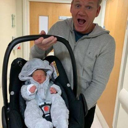 Alig született meg Gordon Ramsay gyereke, máris étterembe vitte