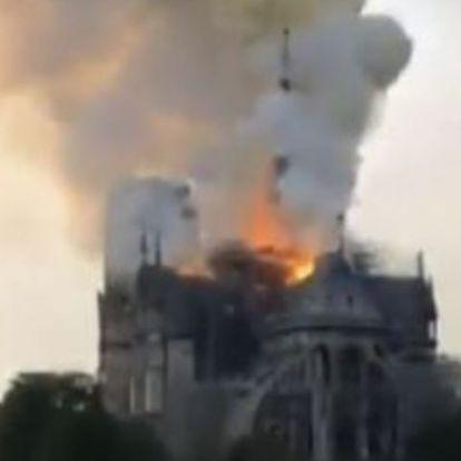 Ég a Notre Dame Párizsban, döbbenetes képek